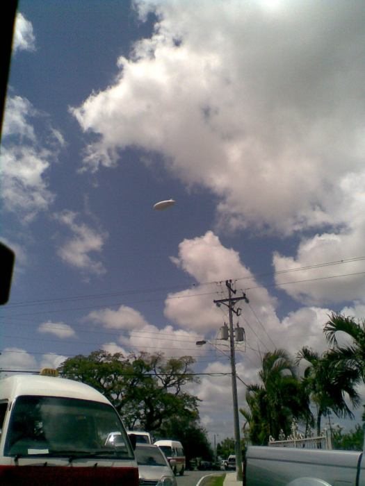 d BLIMP that hovered for the whole day